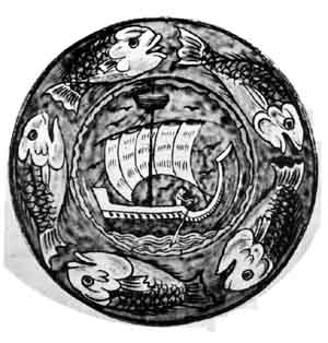 William De Morgan bowl. From the Arts and Crafts room at the Victoria and Albert  Museum, London.