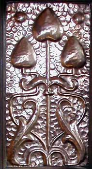 Copper panel from Shapland and Petter Overmantle