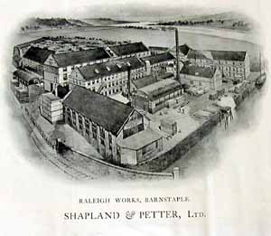 The Shapland and Petter Cabinet Works in Barnstaple.