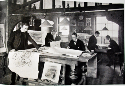 The Liberty Design Studio pictured in Art Journal 1900