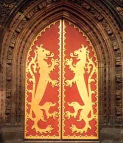 Pugin. Doors of St Giles, Cheadle.