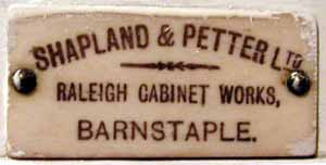 Original Label Shapland and Petter, courtesy of Museum of North Devon.