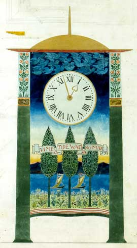 Design for a clock, by CFA Voysey.
